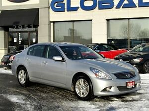 2012 Infiniti G37X Luxury NAVIGATION ALL WHEEL DRIVE