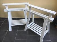 Two Ikea trestles