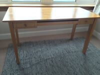 Marks and Spencers Rubberwood Desk 65x136cm
