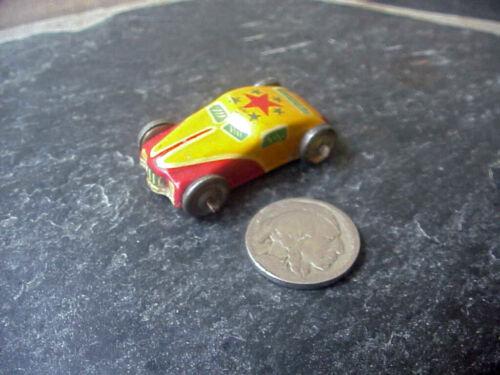 "Vintage Cracker Jack Prize, Small Tin Litho Car,1 3/4"" Nice Cond & Color"