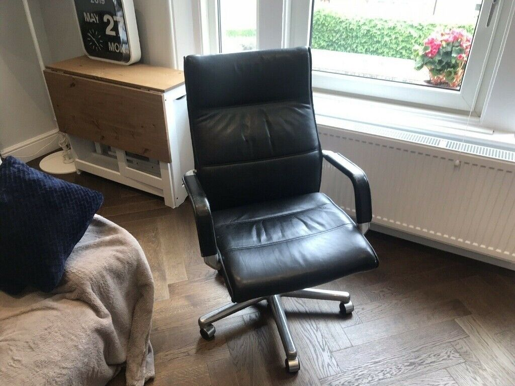 Fine Kusch Co Leather And Steel Designer Office Chair Vintage In Clapham London Gumtree Download Free Architecture Designs Grimeyleaguecom