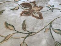 Cream, full length, fully lined, handmade curtains