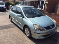 Honda CIVIC 1.6, 5 doors, Green, ***PERFECT CONDITION*** + ***NEW TYRES*** + 10 Months MOT