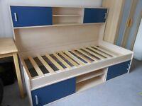 Storage Shelves Single Bedframe