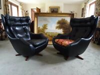 Original Stamped Vintage Parker Knoll' Statesman armchairs