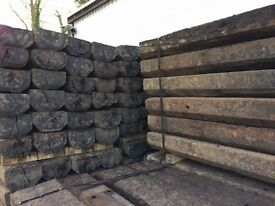 RECLAIMED 2600 X 250 X 125MM 'GRADE A' RAILWAY SLEEPERS - LARGE STOCK