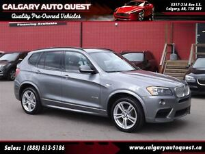 2013 BMW X3 xDrive35i AWD/M-SPORT/NAVI/B.CAM/LEATHER/ROOF