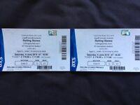 x1 Pair of Seating Rolling Stones Tickets Murrayfield Edinburgh 9/6/18
