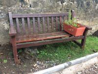 Free wooden garden bench