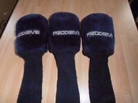 PRODRIVE 1 - 3 & 5 HEADCOVERS, Blue Fleece with woollen sock's