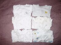 Tiny baby bundle sleepsuits and vests George and M&S
