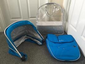 Blue wayfarer blue colour pack and changing bag