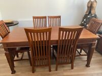 Beautiful dining room table & 6 chairs in the style of Charles Rennie Mackintosh