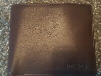 Diesel Dark Brown Wallet - Neelas Men's Billfold - New from Diffusion Not Used + 4 DVDs
