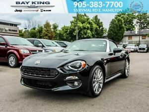 2017 Fiat 124 Spider NAV, BACKUP CAM, LEATHER INTERIOR, LOW KM,