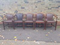 5 x Edwardian Antique Chairs, Ref : 15, Job Lot