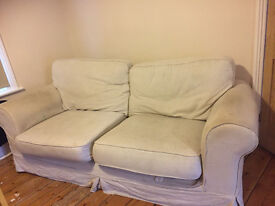 Lovely 3 seater cream couch