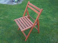 nice simple folding hardwood chairs, great for patio, camping or guests £10 pair