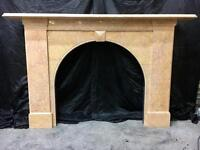 Antique Victorian Marble Arch Fireplace Surround