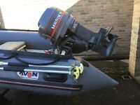 mariner 45 hp outboard, power trim / tilt, oil inj outboard