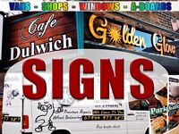 London Design & Sign Maker service - Graphic design, logo designs, awnings, van printing, shop signs