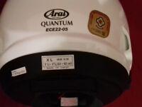 arai quantum diamond white xl brand new with dark visor