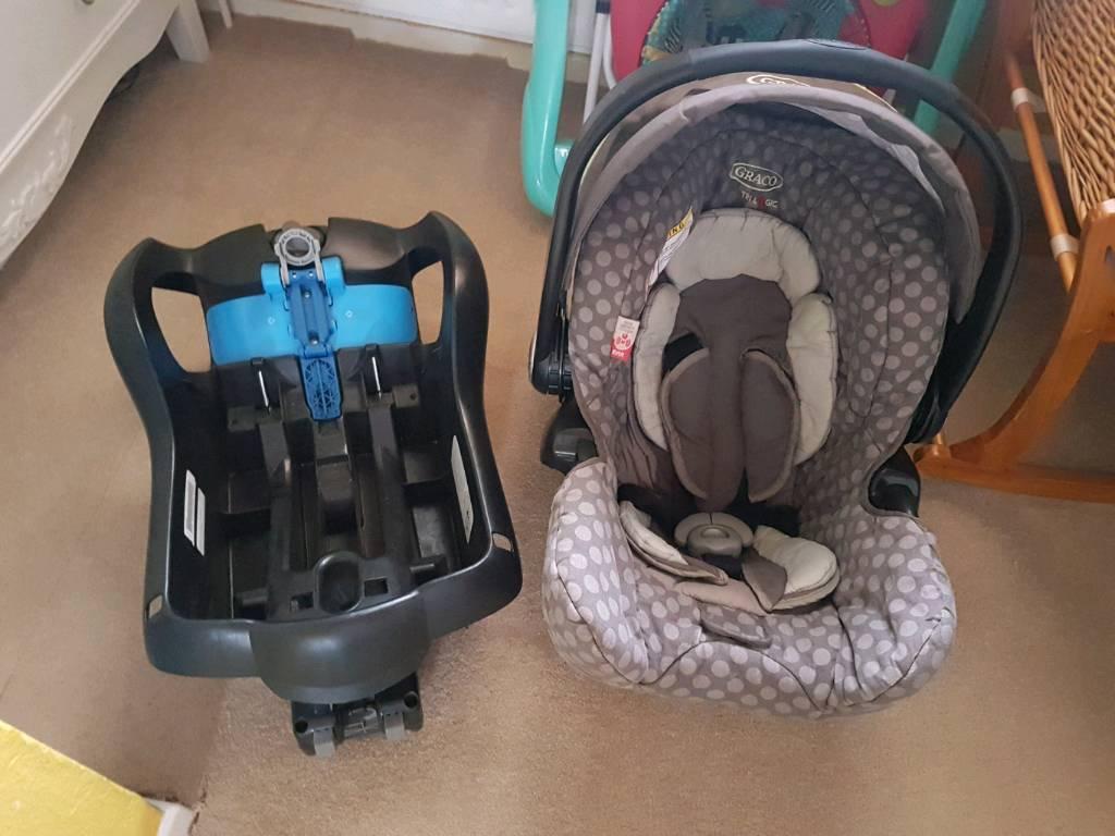 Graco car seat and car fixture