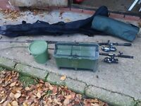 Job lot of fishing gear, rods reels etc