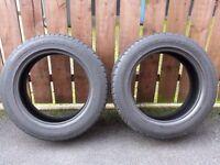 """2 x 225 55 17"""" Part Worn tyres £20"""