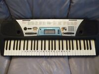 yamaha psr170 full size light weight digital keyboard,hundreds of voices,styles etc,power supply etc