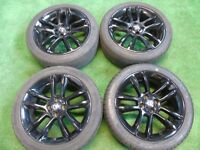 "VAUXHALL CORSA D LIMITED EDITION , COMBO, TIGRA 17"" inch ALLOY WHEELS BLACK"