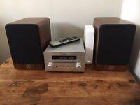 Q acoustic 2020i speakers and YAMAHA DAB hifi system