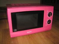 Used Elgento 17L Pink Microwave Oven