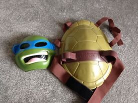 Ninja turtle toy mask and shield