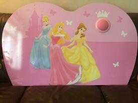 Disney princess single bed head board with light feature