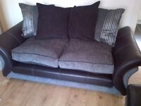DFS large 2 seater, armchair & matching foostool