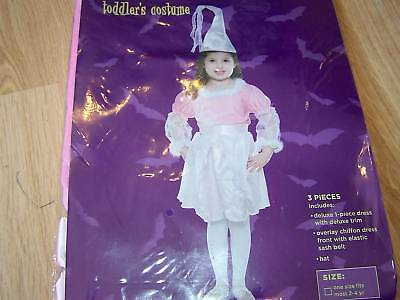 Toddler Size 2T-4T Pink Princess Halloween Costume Dress & Hat New (2t Princess Halloween Costumes)