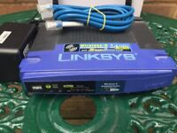 LINSKY WI FI ROUTER 2.4 Ghz 802.1.1 COMPLETE WITH POWER PACK AND LAN CABLE