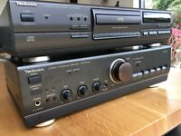 TECHNICS STEREO INTEGRATED AMPLIFIER AND COMPACT DISC PLAYER WITH B&W DM601 SPEAKERS