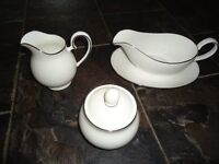 """Dinner Service - Fairmont """"Windsor Silver"""" Hand decorated Bone China"""