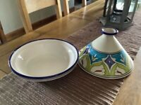 Pottery dish Moroccan style