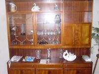 Large sideboard with top unit display cabinet