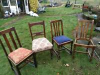 Four old chairs