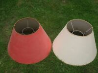 Two old lampshades