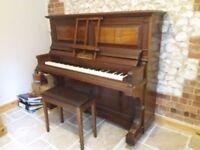 Antique John Brinsmead Upright Piano. Good condition. Vertical Strung.