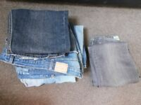 Five Pairs of Men's Jeans 32""