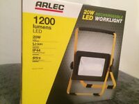 Arlec 20w rechargeable LED worklight 1200 lumens