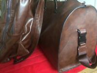 Zara Faux Leather duffle Bag and backpack