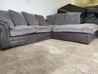 Grey Harvey's corner sofa, couch, suite, furniture 🚚WE ARE STILL DELIVERING🚛