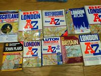 10 A-Z old listing books from all of the UK